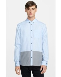 Marc by Marc Jacobs Trim Fit Colorblock Oxford Shirt