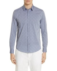 Turtle jacquard sport shirt medium 8672019