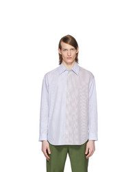 Tibi White And Blue Collage Shirt