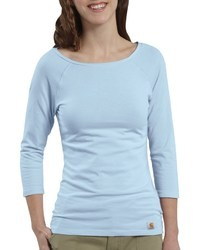 Light Blue Long Sleeve T-shirts for Women | Women's Fashion