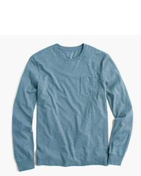 6577724a41c6 Men's Light Blue Long Sleeve T-Shirts by J.Crew | Men's Fashion ...