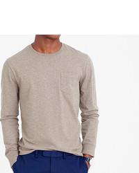 338d7c45d4d8 J.Crew Tall Broken In Long Sleeve Pocket T Shirt, $29 | J.Crew ...