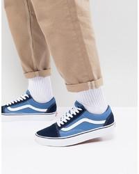 b735ee9d42 ... Vans Old Skool Trainers In Blue Vd3hnvy