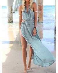 2e583ed39c24 ... Choies Blue Cut Out Beach Maxi Dress
