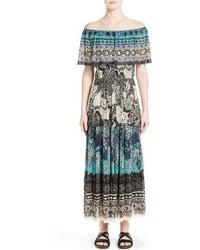 Off the shoulder batik maxi dress medium 1151011