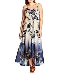 Plus size tokyo blossom maxi dress medium 4413007