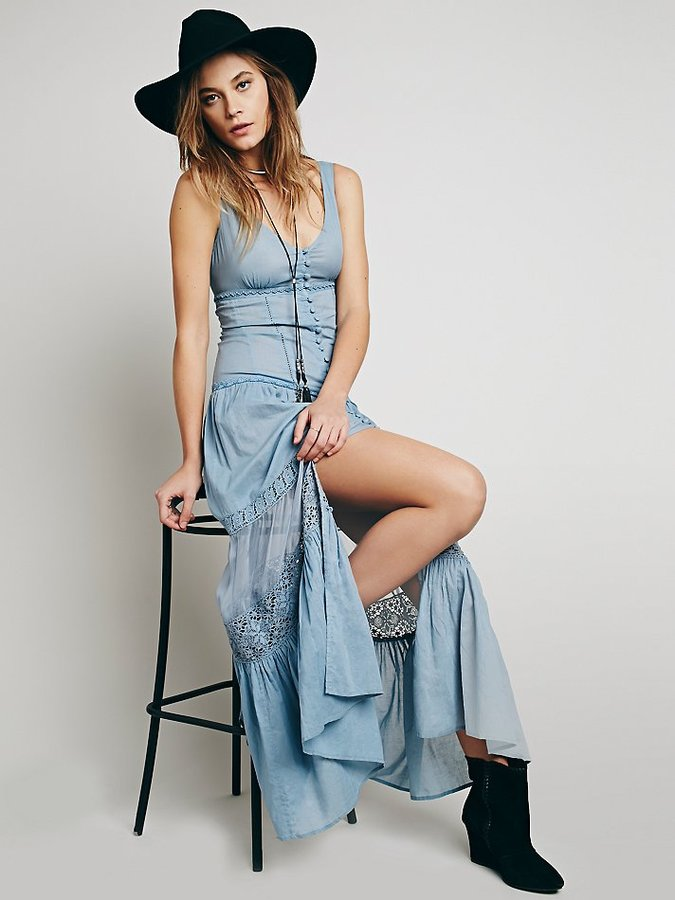 Maxi Dress with Button Front