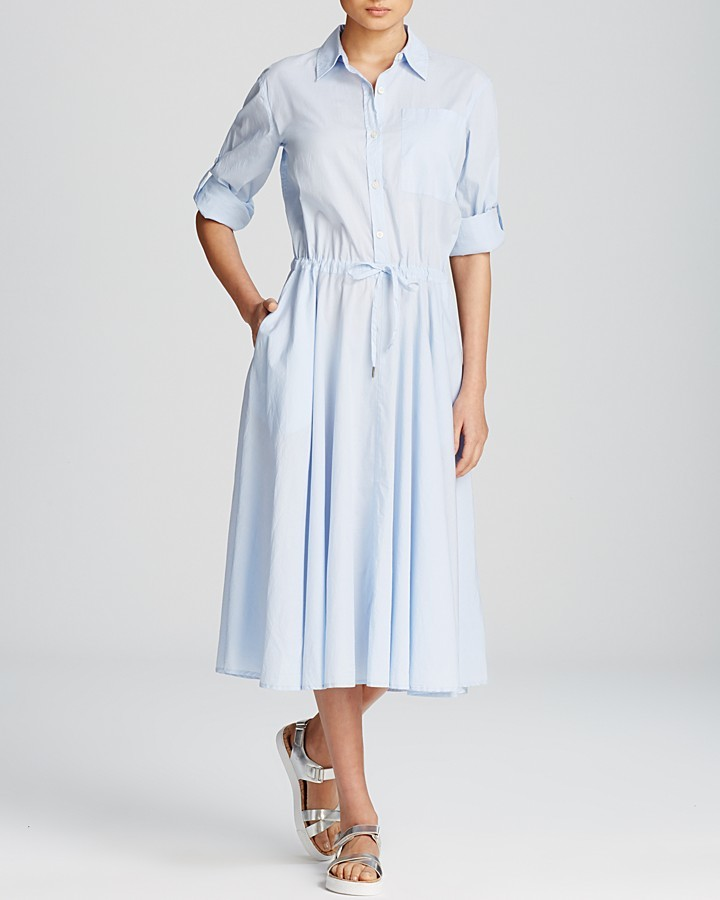 93cbfd01ea2b ... DKNY Pure Midi Shirt Dress ...