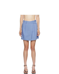 Helmut Lang Blue Wrap Skirt