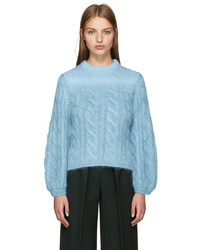 Fendi Blue Mohair Degrade Sweater