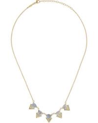 Jacquie Aiche 14 Karat Gold Diamond And Labradorite Necklace