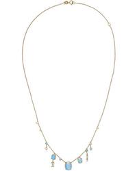 Wwake 14 Karat Gold Multi Stone Necklace