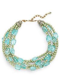 Heidi Daus Stunning Solution Beaded Faux Pearl Torsade Necklace