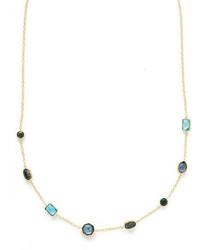 Ippolita 18k Rock Candy Mini Gelato Station Necklace In Midnight Rain 18