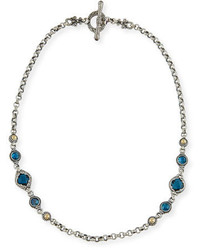 Konstantino London Blue Topaz Station Necklace
