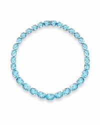 Kiki McDonough Special Addition Collection Blue Topaz Necklace In 18k White Gold