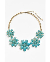 Stephan & Co. Flower Statet Necklace Blue One Size