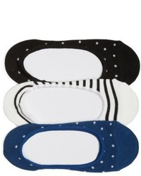 Kate Spade New York Assorted 3 Pack Liner Socks
