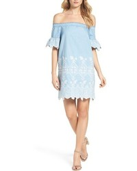 Light Blue Off Shoulder Dress