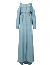 Balmain Off Shoulder Long Dress