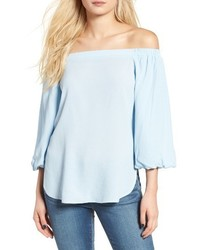 Soprano Bubble Sleeve Off The Shoulder Top