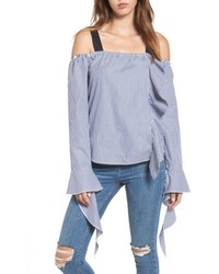 Leith Grosgrain Ribbon Off The Shoulder Top