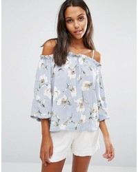 Glamorous Off Shoulder Top With Strap Detail