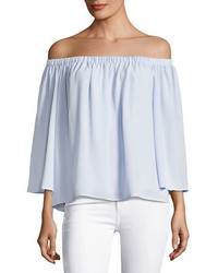 French Connection Summer Crepe Off The Shoulder Top