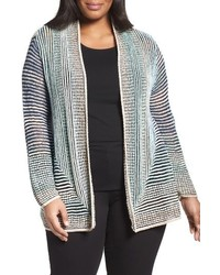 Plus size stripped away cardigan medium 1162257