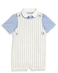 Ralph Lauren Babys Two Piece Shirt Overall Set
