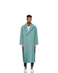 Issey Miyake Men Blue Wrinkle Coat