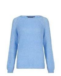 New Look Light Blue Raglan Knitted Jumper