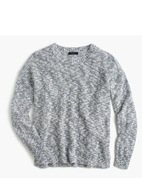 Oversized marled sweater in cotton linen medium 3704345