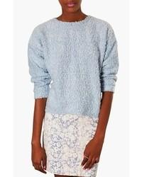 Topshop Textured Sweater Light Blue 10
