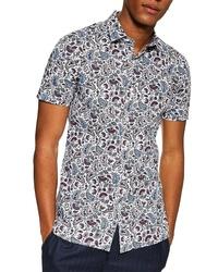 Topman Paisley Print Slim Fit Shirt