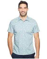 Perry Ellis Short Sleeve Paisley Dot Shirt Clothing