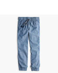 J.Crew Petite Point Sur Seaside Pant In Chambray