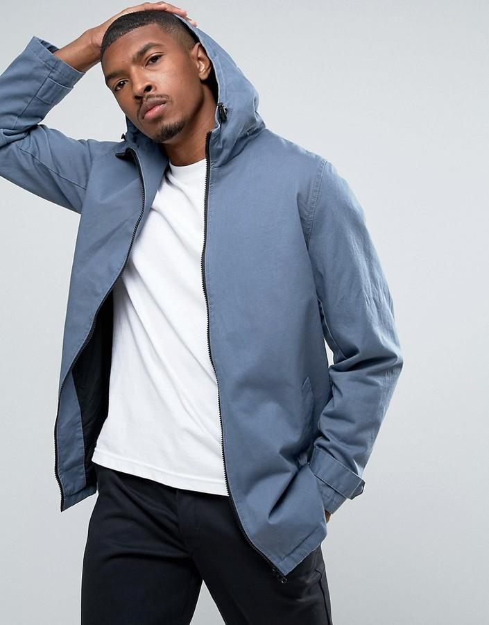 500142edb82 $28, Asos Lightweight Parka Jacket In Blue