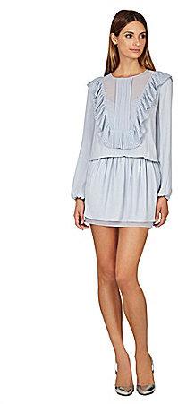 7c85aaba84e2f $298, BCBGMAXAZRIA Kristey Pleated Ruffle Bib Dress
