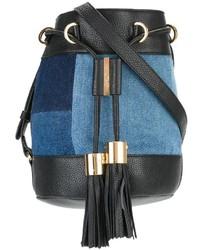 See by Chloe See By Chlo Denim Patchwork Bucket Shoulder Bag
