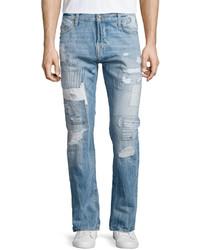 True Religion Dean Method Patchwork Denim Jeans Patched Method