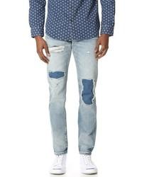 Club Monaco Patchwork Slim Denim Jeans