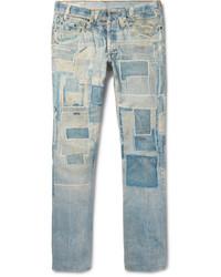 Slim fit patchwork print denim jeans medium 3647791