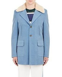 Light Blue Pea Coat
