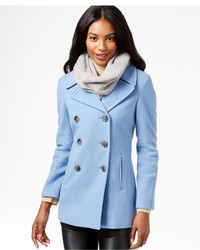 Light Blue Pea Coats for Women | Women&39s Fashion