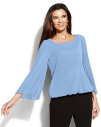 Alfani accordion pleat peasant top medium 534117