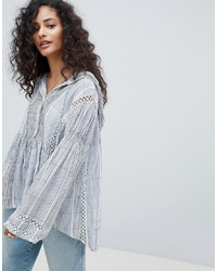 Free People Baja Striped Pullover Top