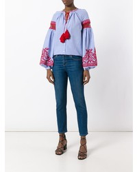 Embroidered wide sleeve blouse medium 7894838