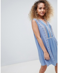 Light Blue Peasant Dress