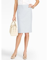 Light Blue Pencil Skirt